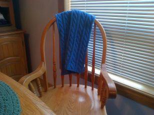 mom's blue scarf 2